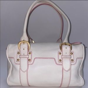 🔥Dooney & Bourke White/Pink Accents Leather🔥